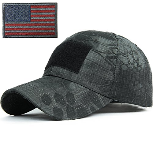 R&S Snake Camouflage Baseball Hats Fitted for Hunting Shooting Tactical Military (Fitted Low Profile Tactical Hat compare prices)