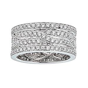 14k White Gold and Diamonds Ring