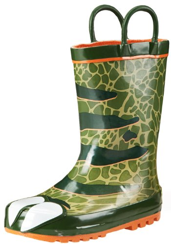 Western Chief Dinosaur Rain Boot (Toddler/Little Kid/Big Kid), Olive Green, 9 M Us Toddler front-926071