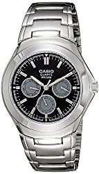 Casio Enticer Tachymeter Black Dial Mens Watch - MTP-1247D-1AVDF (A389)
