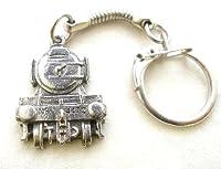Flying Scotsman Steam Train Key-ring, Keychain in English Pewter, Handmade by Hoardersworld
