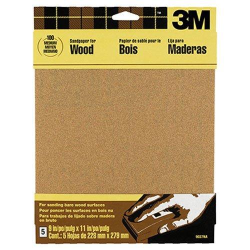 3m Garnet Sandpaper 9 Inch By 11 Inch Assorted Grit 5 Sheet