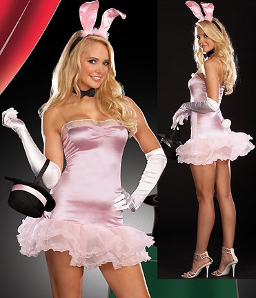 Women's Bunny Costume Pink, X-Large