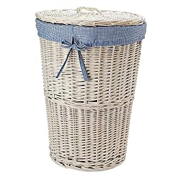 Laundry hamper from target in wicker rattan cane linen - White wicker bathroom accessories ...