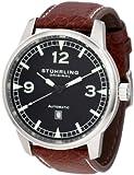 Stuhrling Original Men's 129XL.3315K1 Aviator Tuskegee Warhawk Automatic Date Black Watch