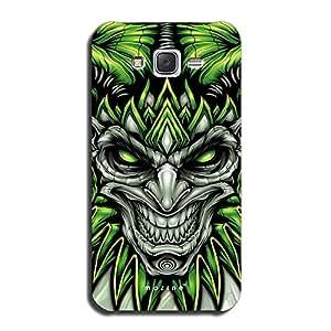Mozine Green Eyed Devil printed mobile back cover for Samsung Galaxy J7