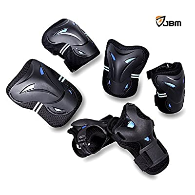 JBM Multi Sport Protective Gear Knee Pads and Elbow Pads with Wrist Guards for Cycling, Skateboard, Scooter, Bmx, Bike and Other Extreme Sports Activities by JBM International