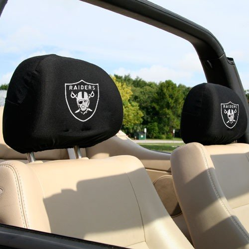 oakland raiders headrest covers price compare. Black Bedroom Furniture Sets. Home Design Ideas