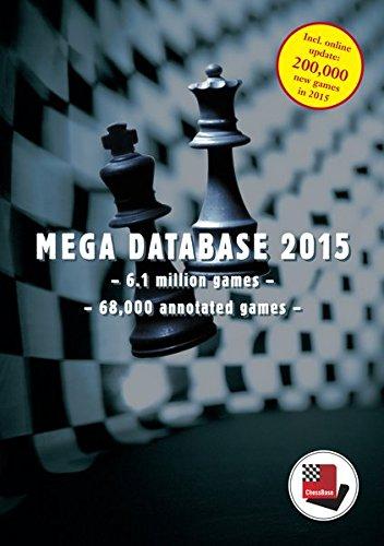 ChessBase Mega Database 2015: 6,1 Mill. Schachpartien Partien aus dem Zeitraum 1560 bis 2014, davon 68.000 kommentiert