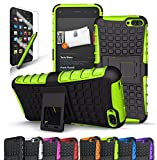 Fire Phone Case, CINEYO(TM) heavy Duty Rugged Dual Layer Case with kickstand (Amazon Fire Phone Case Black) (Black) (Green)