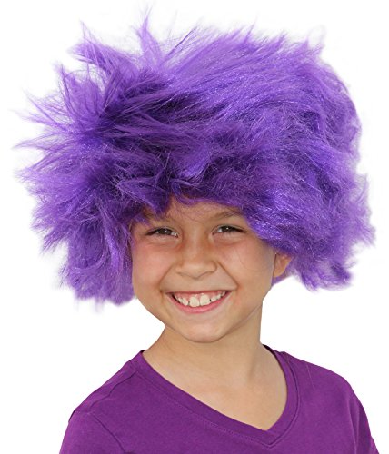 Afro Wig Purple Minion Wig For A Purple Minion Costume Or Minions Costume