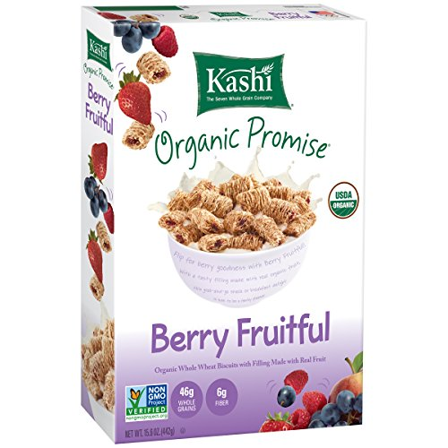 Kashi Organic Promise Cereal, Berry Fruitful Whole Wheat Biscuits, 15.6 Ounce (Pack of 12) (Kashi Organic Berry Fruitful compare prices)
