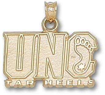North Carolina Tar Heels UNC Tar Heel Pendant - 14KT Gold Jewelry by Logo Art