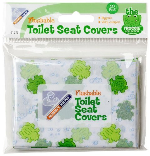 Mommys Helper Flushable Toilet Seat Cover, Froggie – 10 pcs, (3 pack -Total 30)