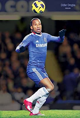 J-4211 Chelsea F.c.- Didier Drogba- Football , Soccer, Sport Collections,decorative Poster Print Vintage New Size: 35 X 24 Inch.#12