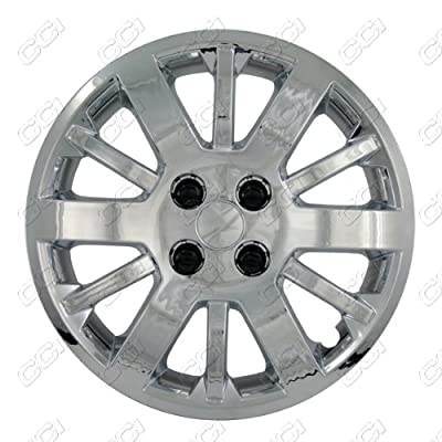 CCI IWC453-15C 15 Inch Bolt On Chrome Finish Hubcaps - Pack of 4