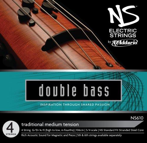 D/'Addario Zyex Bass String Set Medium Tension 3//4 Scale