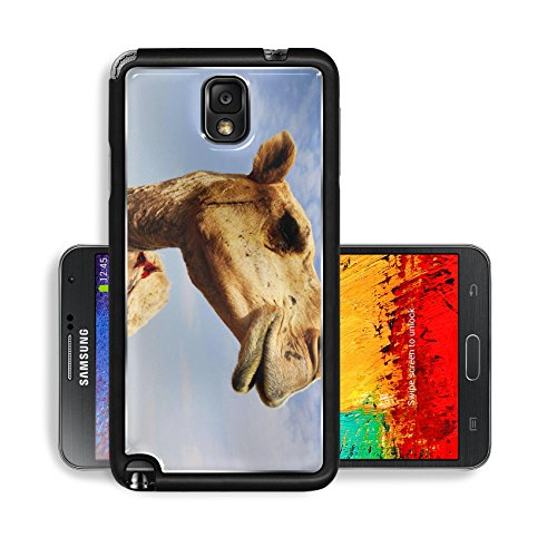 Liili Premium Samsung Galaxy Note 3 Aluminum Snap Case A close up view of the head of a dromedary camel against a slightly cloudy sky IMAGE ID 6025115