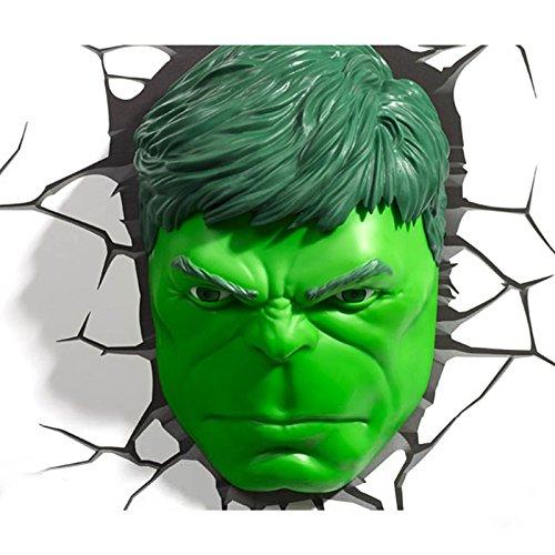 Tête Led Chambre Mur Marvel Avengers 3d Lampeveilleuse Deco Hulk VGqSzMUp