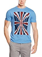 Ben Sherman Camiseta Manga Corta Union Optic Tee (Azul Claro)