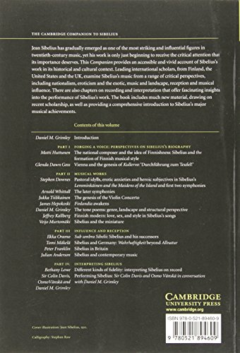 The Cambridge Companion to Sibelius Paperback (Cambridge Companions to Music)