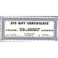 1 - $75 Gift Certificate Kit Young Cards 78897