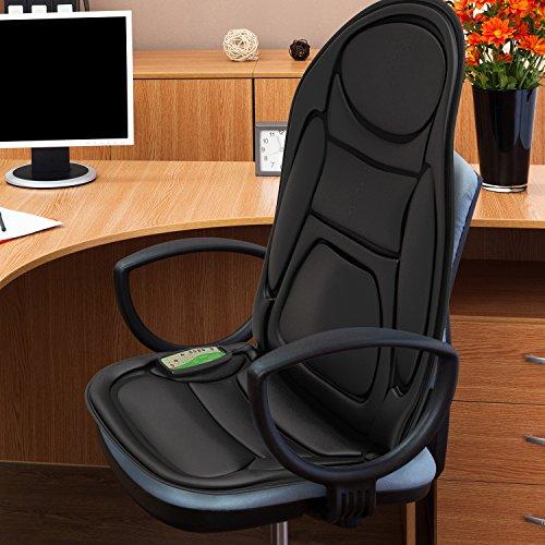 seat cushion vibrating massager gideon health care back shoulder heat therapy ebay. Black Bedroom Furniture Sets. Home Design Ideas