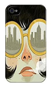 Dreambolic Glasses Printed Back Cover For Iphone 4S