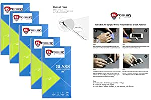 Kronus (Pack Of 5) Tempered Glass Screen Protector For Micromax Bolt S301||2.d D Curved Edged Glass||Reusable Packaging|| Perfect Fit||Oil Coated|