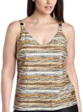 Profile by Gottex Women's Out Of Africa Scoop Neck Tankini