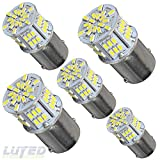 New generation 12-24v !Super Bright Low Power !5 x 650 Lumens 1156 1141 1003 3014 54smd Led Light bulb Use for Back Up Reverse Lights,Brake Lights,Tail Lights,Rv lights White