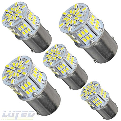 New generation 12-24v !Super Bright Low Power !5 x 650 Lumens 1156 1141 1003 3014 54smd Led Light bulb Use for Back Up Reverse Lights,Brake Lights,Tail Lights,Rv lights White (Lumen Led Bulbs compare prices)