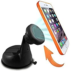 Nex® Car Mount, Universal Magnetic Car Mount Holder, Windshield Mount and Dashboard Mount Holder for Cell Phones and Mini Tablets, Magnetic Cell Phone Mount Magnetic Car Mount