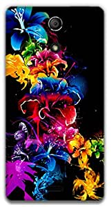 The Racoon Grip Night Meadow hard plastic printed back case / cover for Sony Xperia ZR