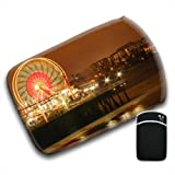 Ferris Wheel With Lights on Pier at Night For Amazon Kindle Fire & Kindle 3G Keyboard Soft Protection Neoprene Case Cover Sleeve Bag With Pocket which is Ideal for Headphones, Data Cable etc