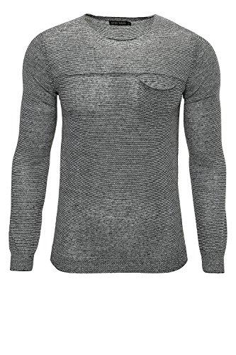 Antony Morato Pullover Uomo Maglione Sweater Slim Fit Nero (Col. 9000) L