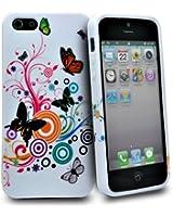 Accessory Master Coque en silicone pour iPhone 5 Multi papillon fleur conception