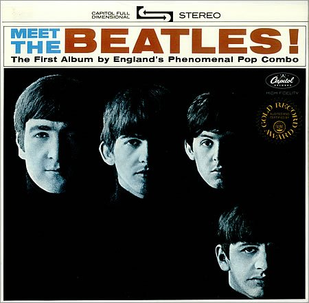 Original album cover of Meet the Beatles by Beatles