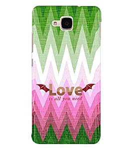 EPICCASE love is all u need Mobile Back Case Cover For Huawei Honor 5c (Designer Case)