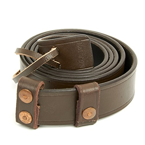 British WWI & WWII SMLE Enfield Leather Rifle Sling (British Ww2 Straps compare prices)