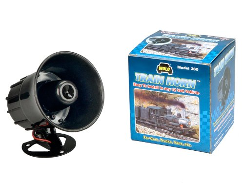 Wolo 360 12 Volt Train Horn with Three Distinctive Train Horn Sounds