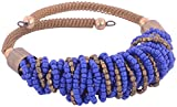 WM Couture Navy Blue and Gold Metal and Polki Adjustable Bracelet for Women (Asdqwe68)