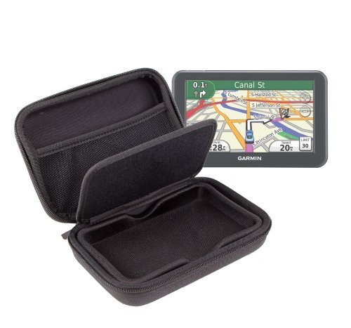 DURAGADGET Executive Black EVA Satnav Hard Case for Garmin Nuvi 50LM, 52LM, 2555LMT, 2567LMT, nüvi 3597 LMT, nüvi 3598 LMT-D & 2457LMT
