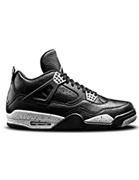 pictures of Air Jordan 4 Retro LS Oreo Iv Men Casual Sneakers New Black Tech Grey