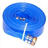 Eagleflo Eagle PVC Discharge Hose Assembly, Blue, Male X Female Water Shanks