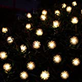 Annengjin®20 LED String Fairy Lights Solar Powered For Outdoor, Garden, Patio, Christmas party(Warm White Chuzzle Ball)