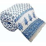 Mahadev Handicrafts Jaipuri Hand Block Print Traditional Desgin Double Bed Jaipuri Razai - Quilt