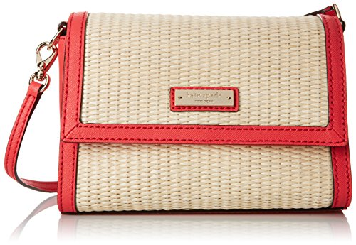 Kate Spade New York Cedar Street Straw Magnolia 女式编织纹单肩包图片