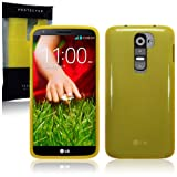 LG G2 TPU Gel Skin Case / Cover - Yellow