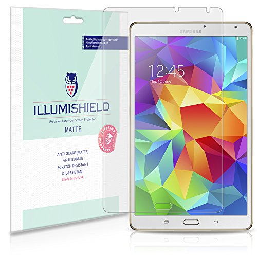 Illumishield - Samsung Galaxy Tab S 8.4 Screen Protector / Anti-Glare (Matte) Hd Clear Film / Anti-Bubble & Anti-Fingerprint / Premium Japanese High Definition Invisible Crystal Shield - Free Lifetime Warranty - [2-Pack] Retail Packaging Sm-T700